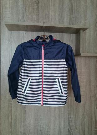 Куртка  - дождевик с капюшоном для мальчика 7 - 8 лет