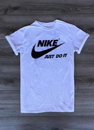 Футболка мужская с принтом nike белая / футболка чоловіча біла