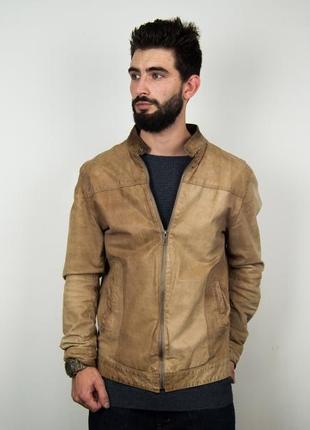 Кожаная куртка jack&jones
