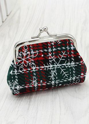3-94 кошелек snowflake/ кошелек для мелочи/ подарок на новый год