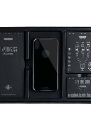 Подарочный набор для iPhone 11 pro X Xs чехол кабель подставка