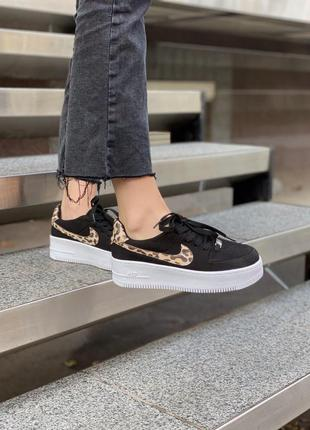 Кроссовки nike air force leopard