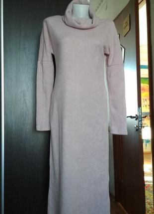 Длинное платье season ангора цвета экрю