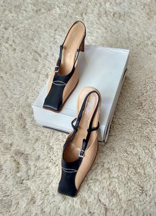 Кожаные туфли босоножки Giada Gabrielli Италия