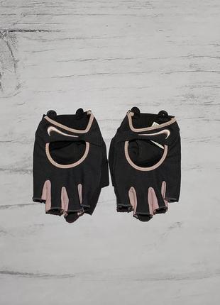 Nike original спортивные вело перчатки митенки велоперчатки
