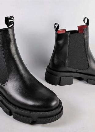 Кожаные димисезонные ботиннки. днепр. модель челси