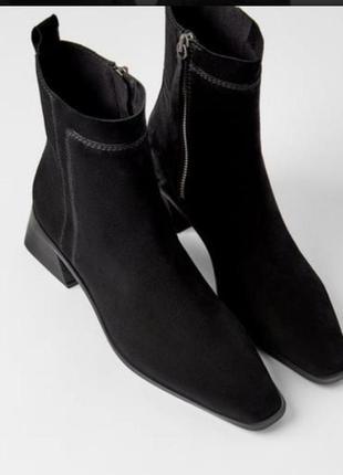 ❤️новые ботинки сапоги весна осеньсредний каблук натуральная з...