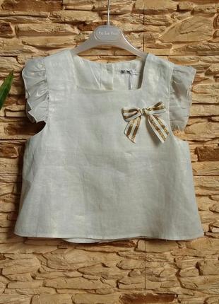 Нарядный льняной топ/блуза gaialuna (италия) на 12-13 лет (раз...