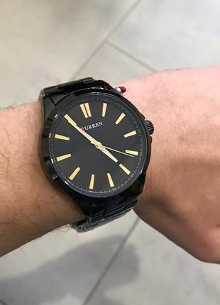 Наручные часы Curren 8322 Black-Gold Наручний годинник, часи
