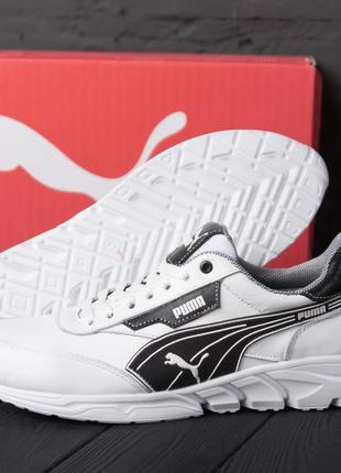 Мужские кожаные кроссовки Puma White Белые