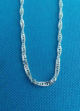 Элегантная цепочка из стерлингового серебра 925 пробы,Сингапур.