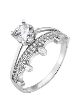 Кольцо серебро 925 корона лк0260