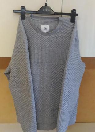 Необычный фактурный пуловер кофта толстовка lewis
