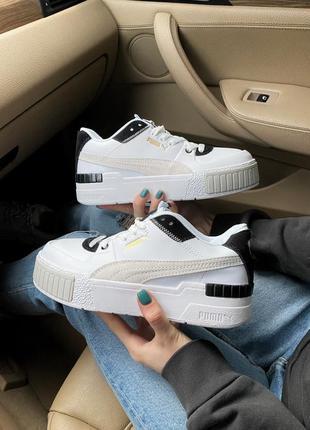 Кросівки puma cali sport mix white black кроссовки