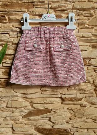 Нарядная юбка, букле gaialuna (италия) на 6-12 месяцев (размер...