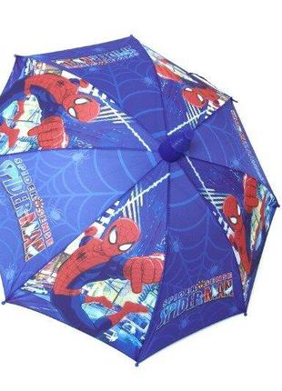 Качественный детский зонт трость для мальчика спайдермен в чехле