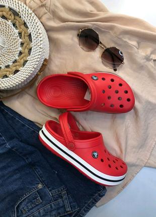 Женские кроксы Crocs Crocband Red