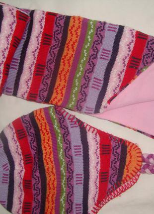 Шапка и шарф на флисе