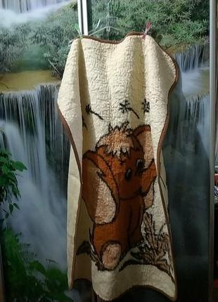 Детское шерстяное одеялко