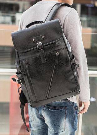 Мужской городской рюкзак черный