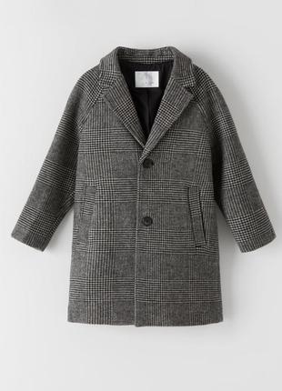 Шерстяное пальто на мальчика от zara