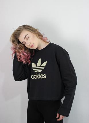Укороченный свитшот adidas