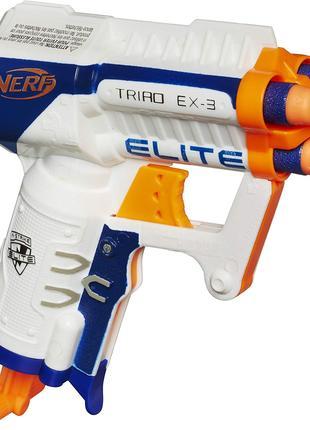 Бластер Нерф от Хасбро Nerf N-Strike Elite Triad EX-3 Blaster