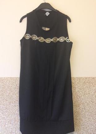 Шикарное платье расшито бисером  с франции р.л