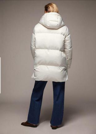 Удлиненная куртка пуховик zara большого размера xl xxl