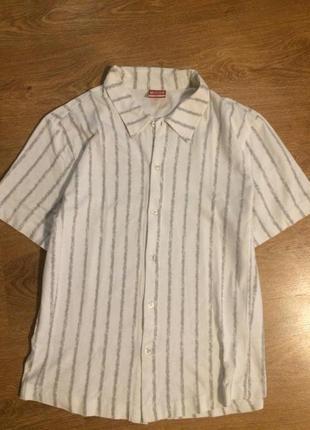 Брендовая футболка -рубашка пог 54 длина 56.5 см
