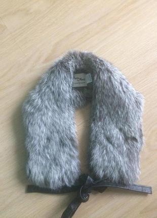 Шейний меховый шарфик кролик длина 60 ширина 10 см