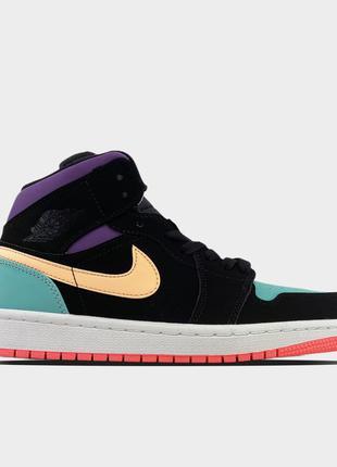 🔥 Nike Air Jordan 1 Retro Mid Multicolor.