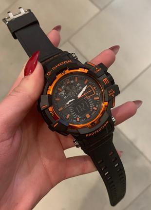 Наручные часы Casio G-Shock GW-A1100 Black-Orange Годинник часи
