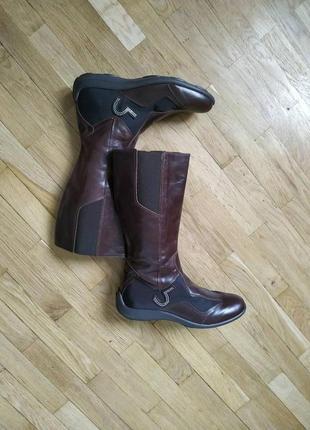 Італійські шкіряні чобітки,сапоги сапожки
