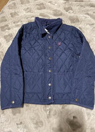 Демисезонная куртка стёганная на девочку пиджак