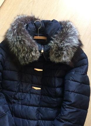 Шикарное зимнее пальто с натуральним мехом
