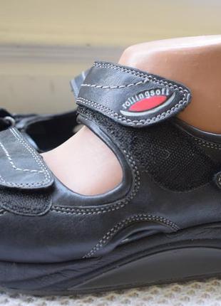 Кожаные босоножки сандали сандалии rolling gabor р.40/40,5 26,...