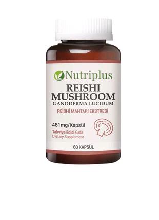 Диетическая добавка экстракт гриба Рейши Nutriplus
