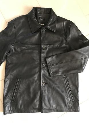 Тренч кожаный мужской куртка дорогой бренд германии yorn разме...