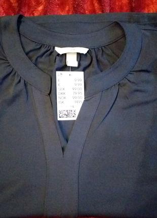 Красивая блузка, с коротким рукавом, фирма НМ, размер Л