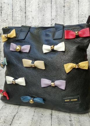 Оригинальная кожаная сумка от marc jacobs made in italy