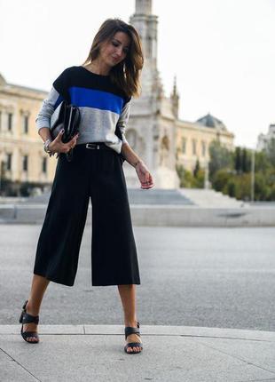 Черные брюки кюлоты zara