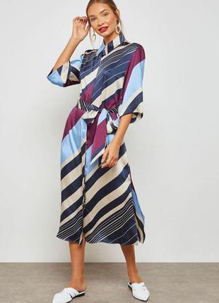 Платье рубашка в полоску zara mango zara