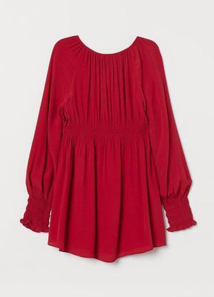 Красная блуза туника можно для беременных zara