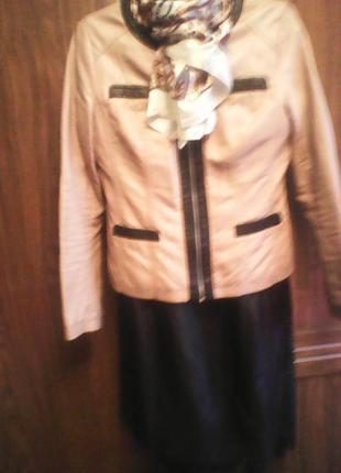 Куртка женская размер 46 кожаная Китай