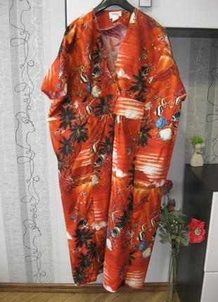 Поб 83 широкое хлопковое комфортное платье много больших мега ...