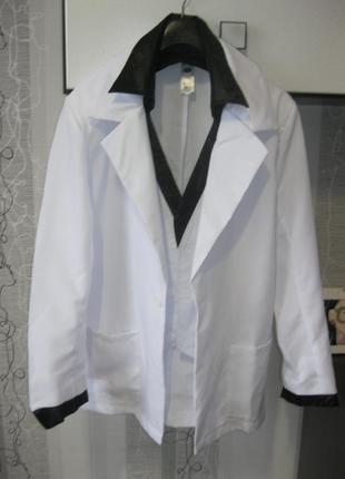 Новый белый пиджак фрак костюм хеллоуин halloween вечеринка пати