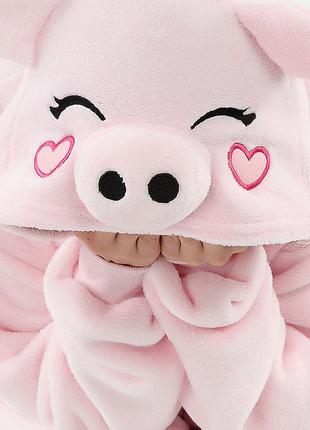 Плюшевая пижама кигуруми свинка пепа комбинезон слип м рост до...