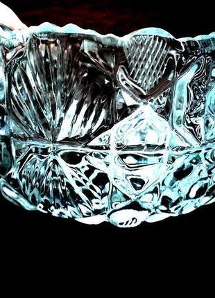 Хрустальная ваза конфетница салатник массивный, раритет