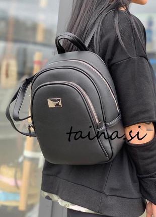 Женский черный рюкзак david jones cm3933t оригинал классически...